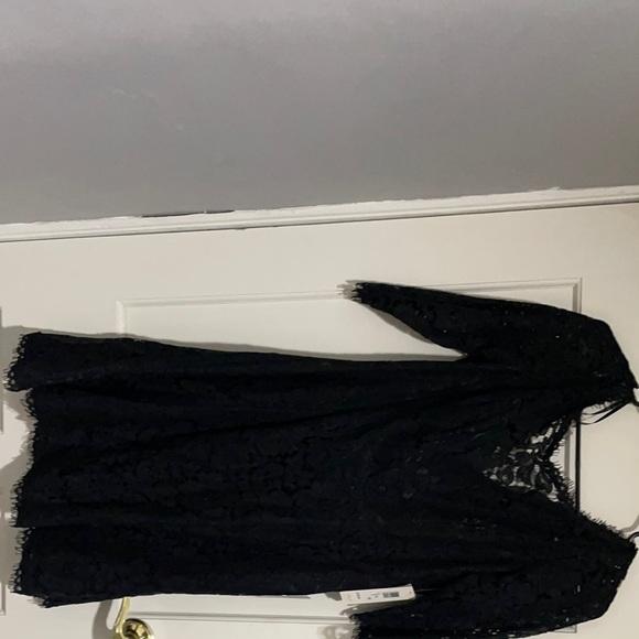 Eliza J black lace dress